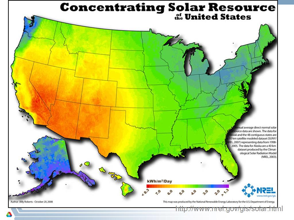 Concentrating Solar Resource