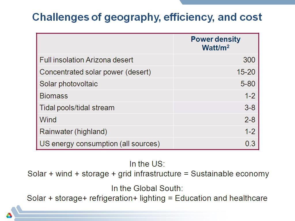 Challenges of geography, efficiency, and cost
