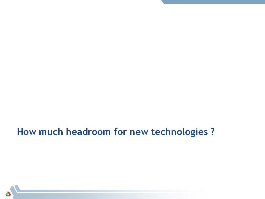 How much headroom for new technologies ?