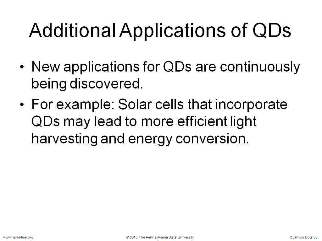 nanoHUB.org - Resources: Quantum Dots: Watch Presentation