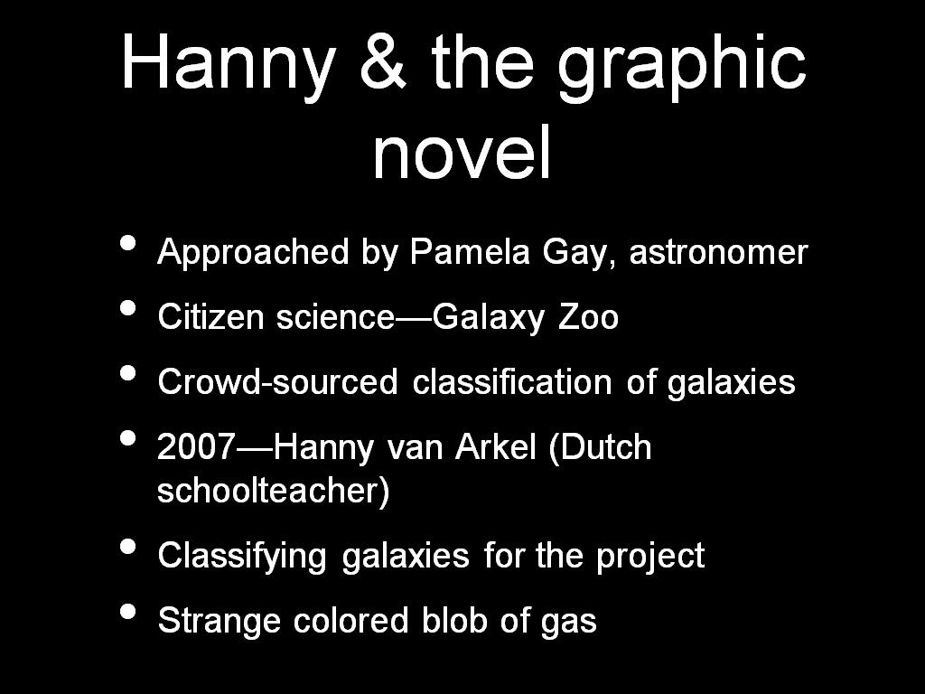 Hanny & the graphic novel