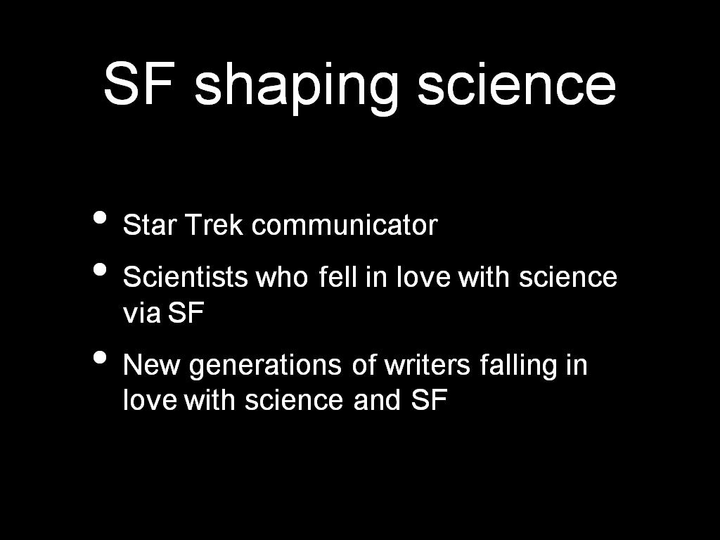SF shaping science