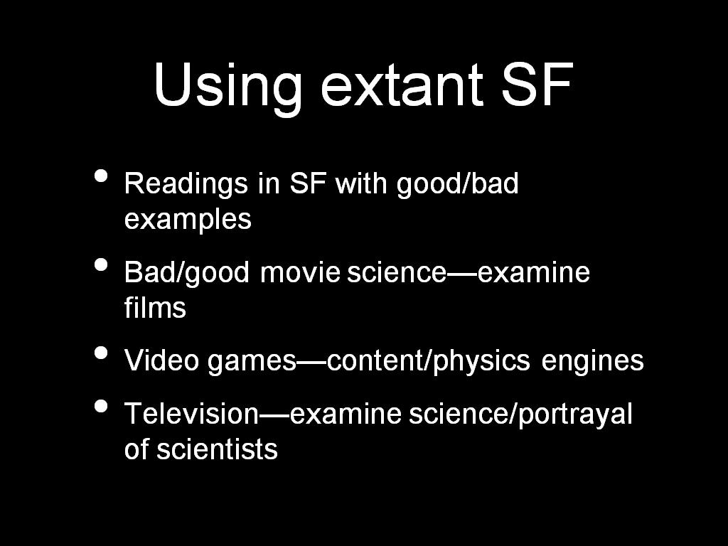 Using extant SF
