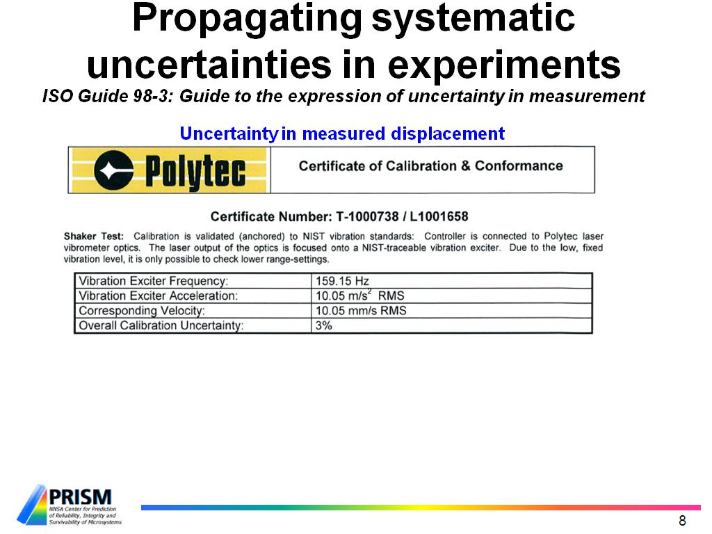 Propagating systematic uncertainties in experiments