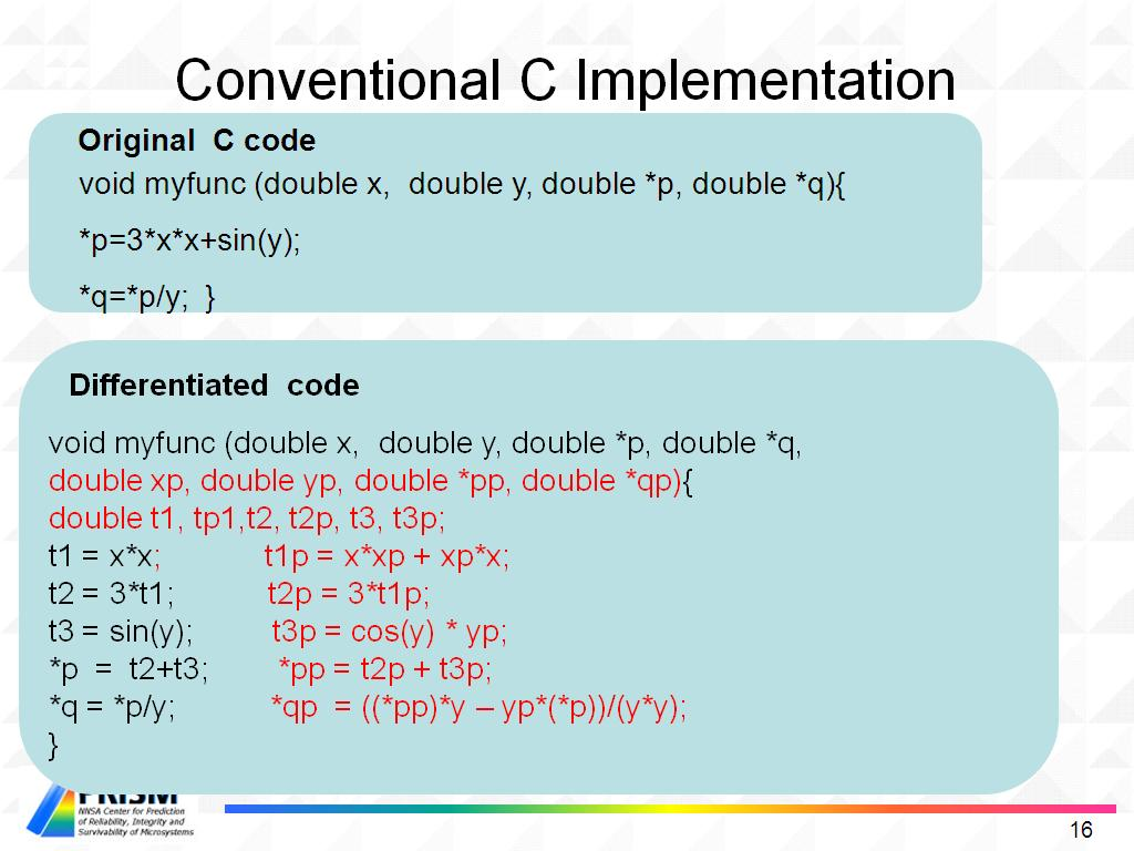 Conventional C Implementation
