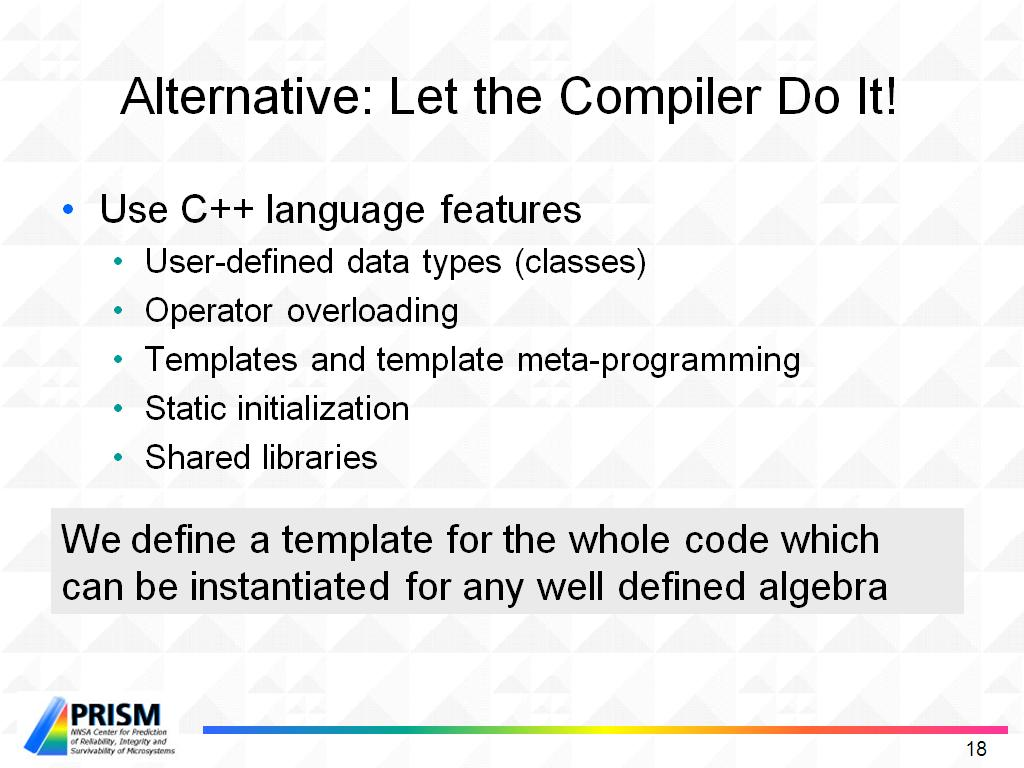 Alternative: Let the Compiler Do It!