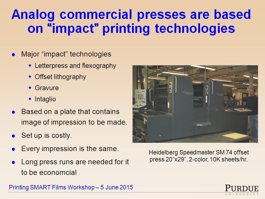 Color printing purdue -  Analog Commercial Presses Are Based On