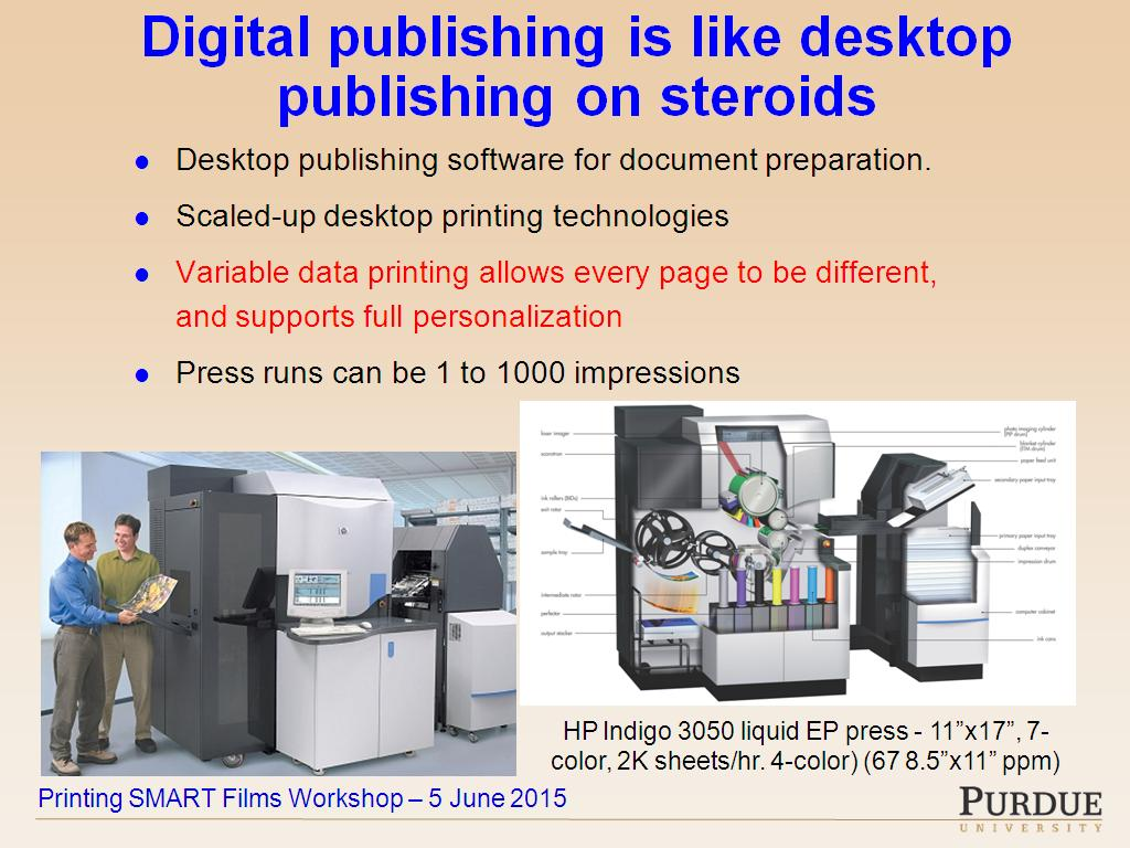 Color printing purdue - Nanohub Org Resources Hp Printing Center What Can We Learn From Commercial Printing Watch Presentation