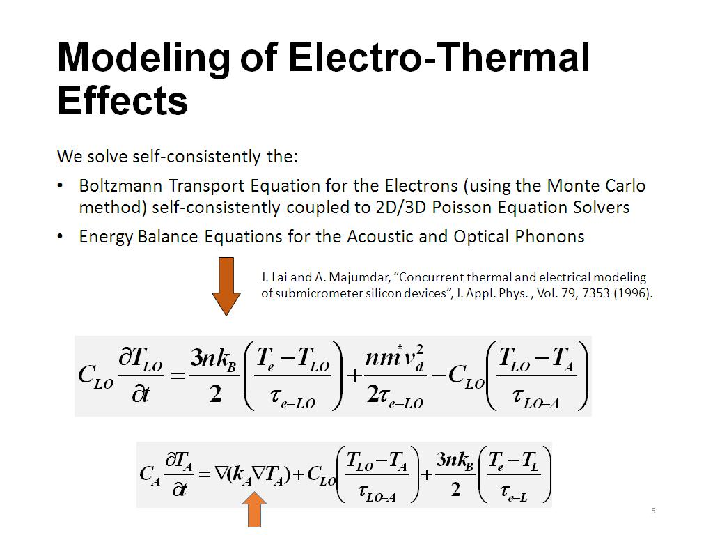 nanoHUB org - Resources: Multi-Scale Modeling of Self-Heating
