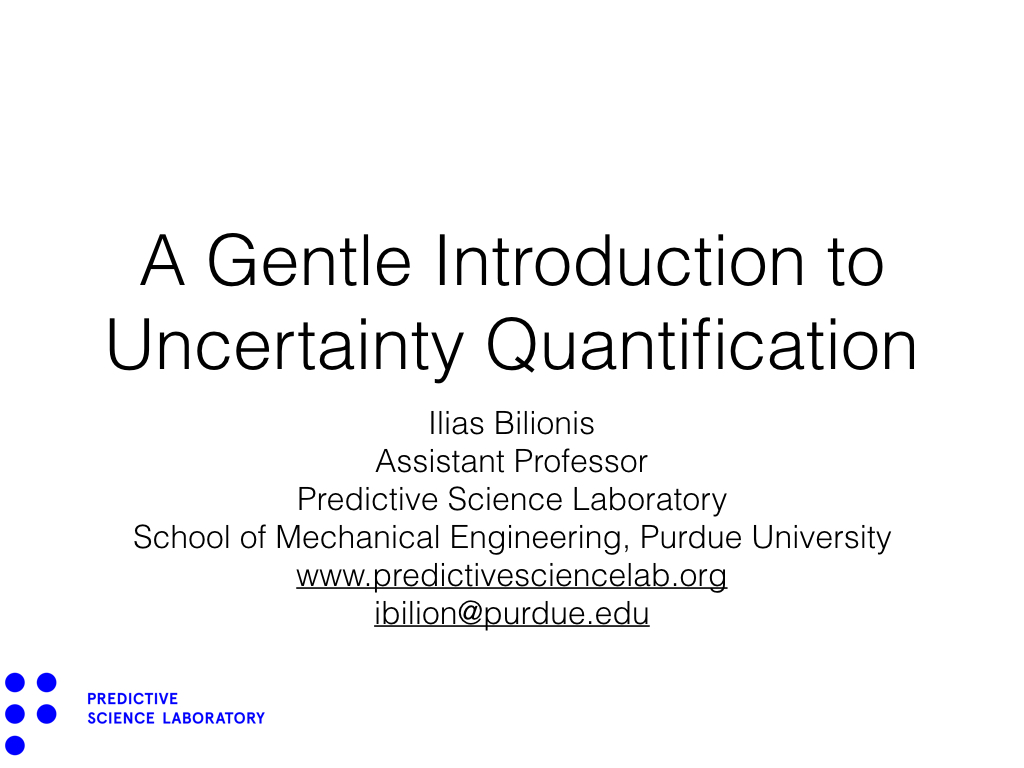 A Gentle Introduction to Uncertainty Quantification