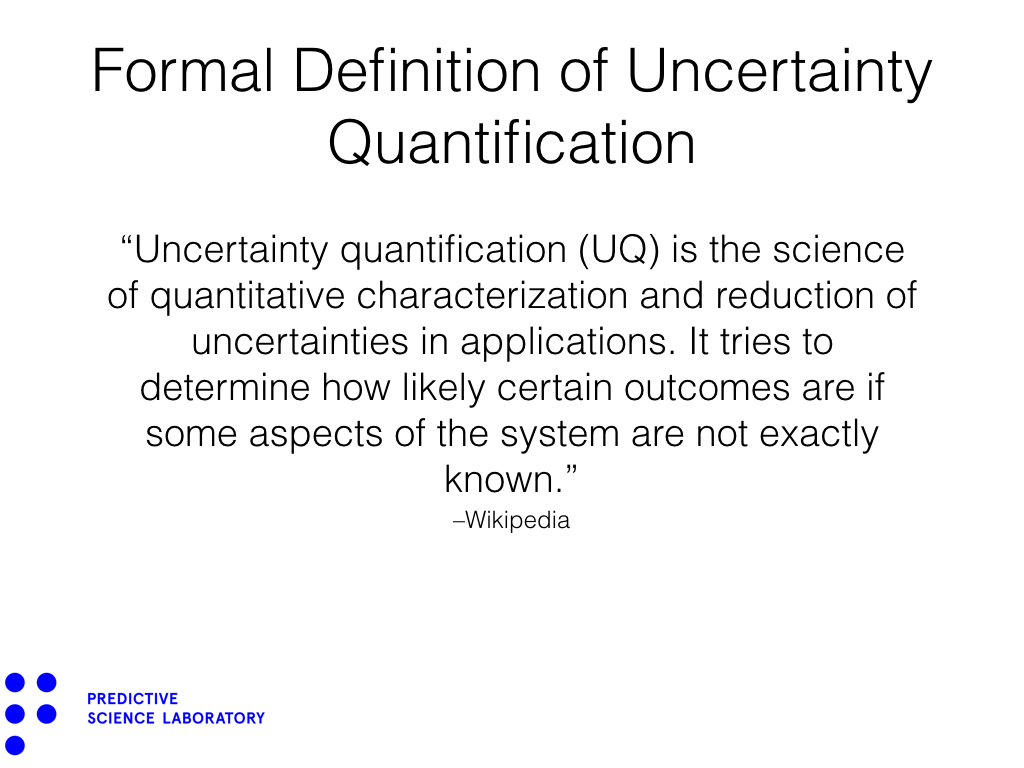 Formal Definition of Uncertainty Quantification