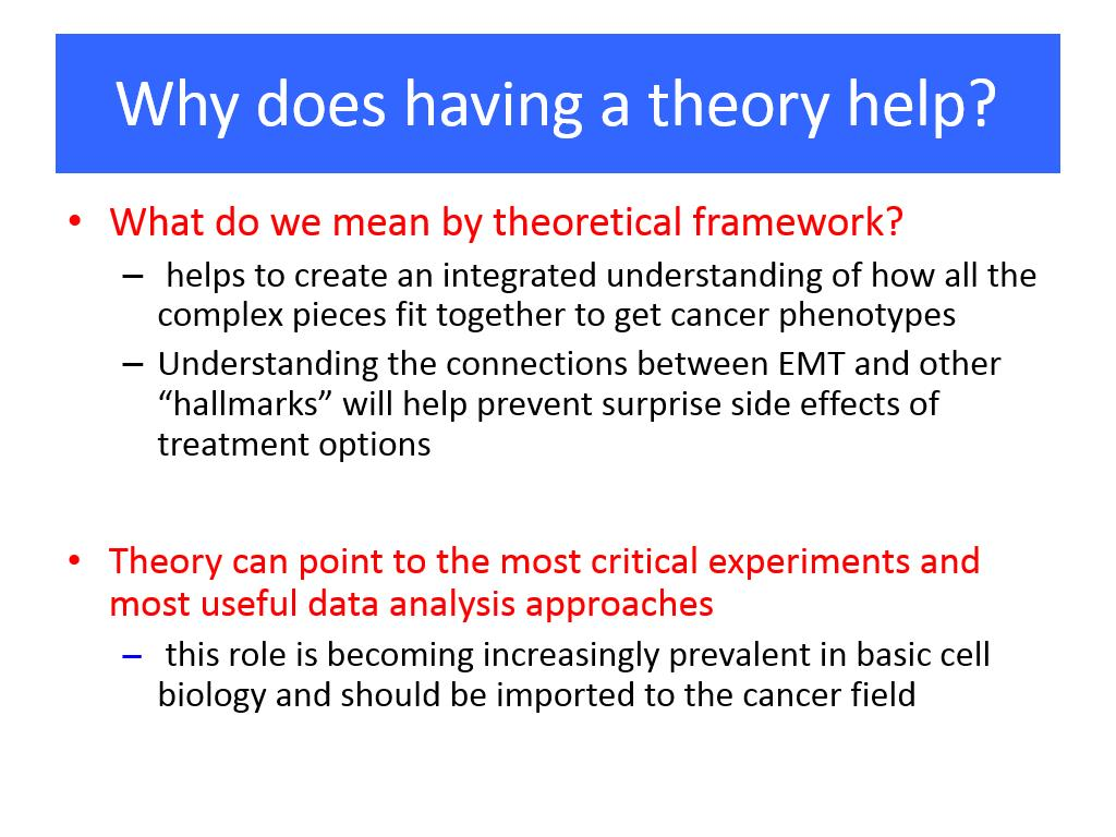 Why does having a theory help?