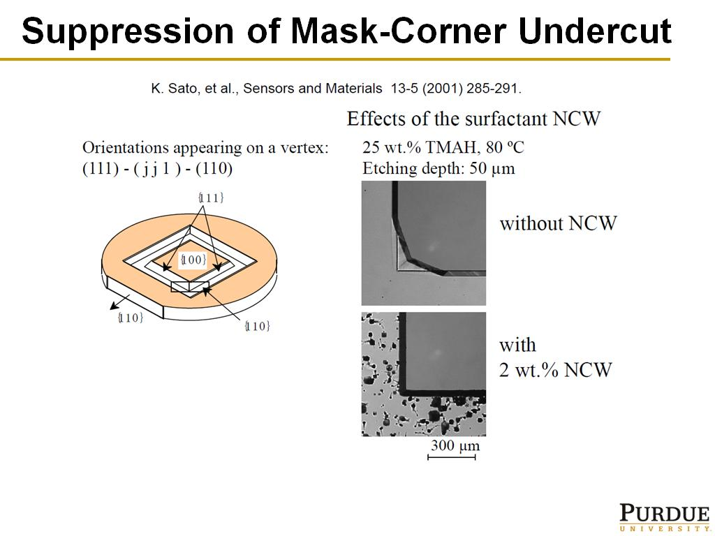 Suppression of Mask-Corner Undercut