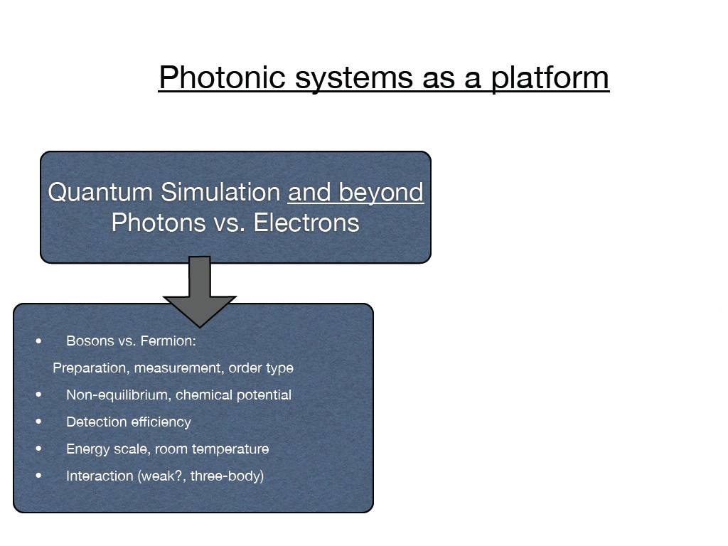 Photonic systems as a platform