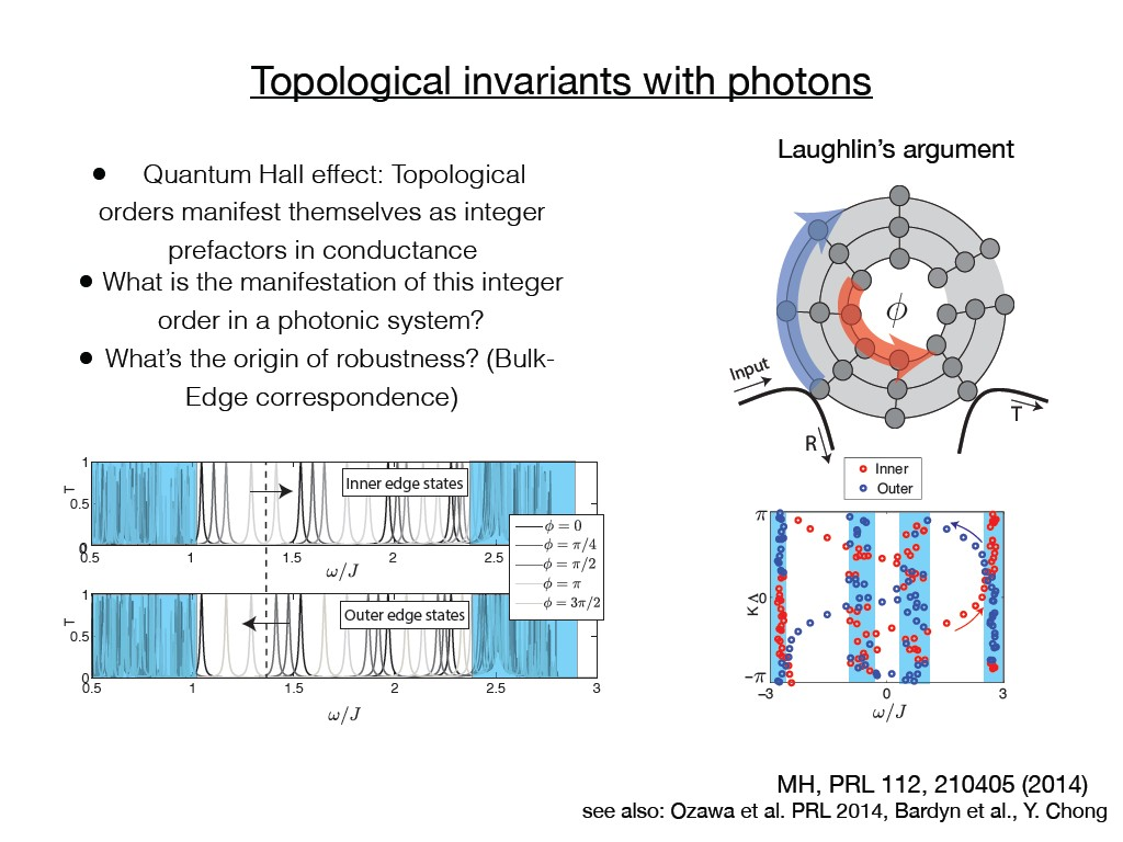 Topological invariants with photons
