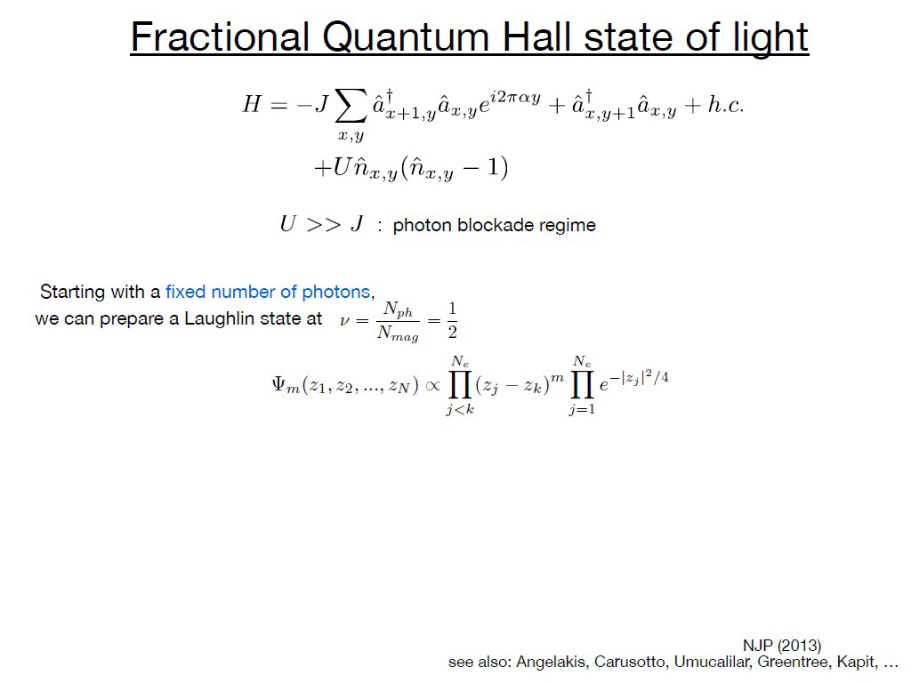 Fractional Quantum Hall state of light