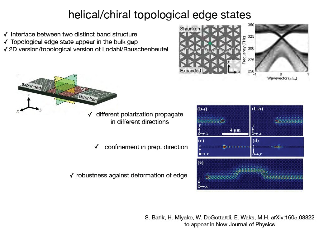 helical/chiral topological edge states