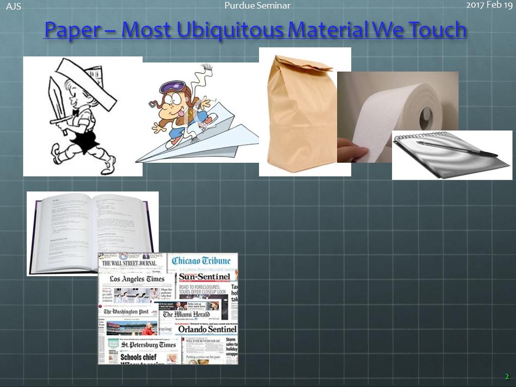 Paper – Most Ubiquitous Material We Touch