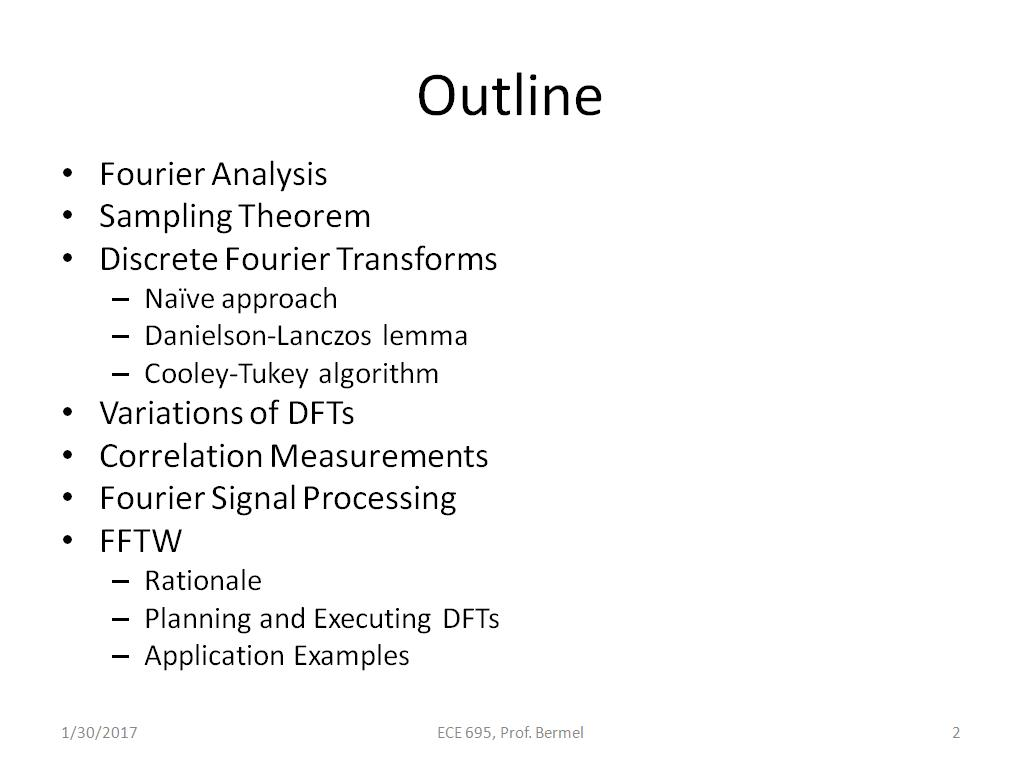 nanoHUB org - Resources: ECE 695NS Lecture 9: Fast Fourier