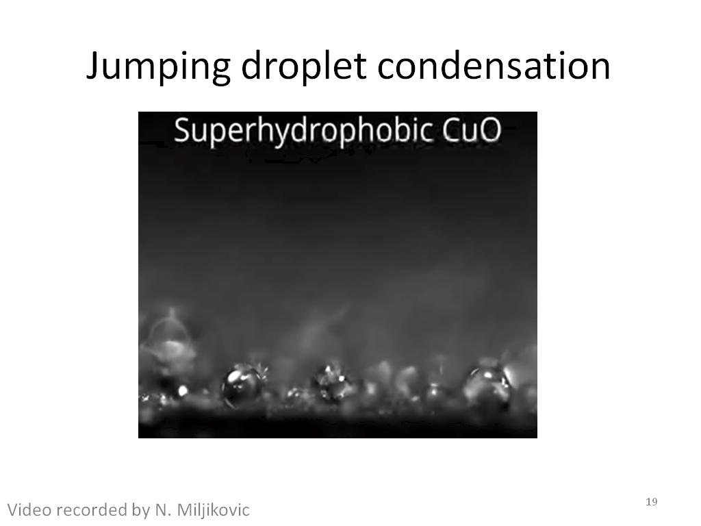 Jumping droplet condensation