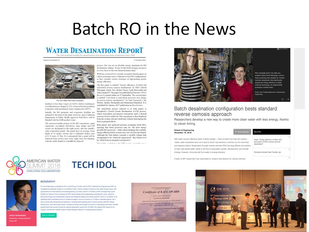 Batch RO in the News