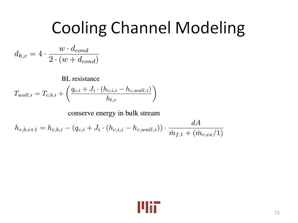 Cooling Channel Modeling