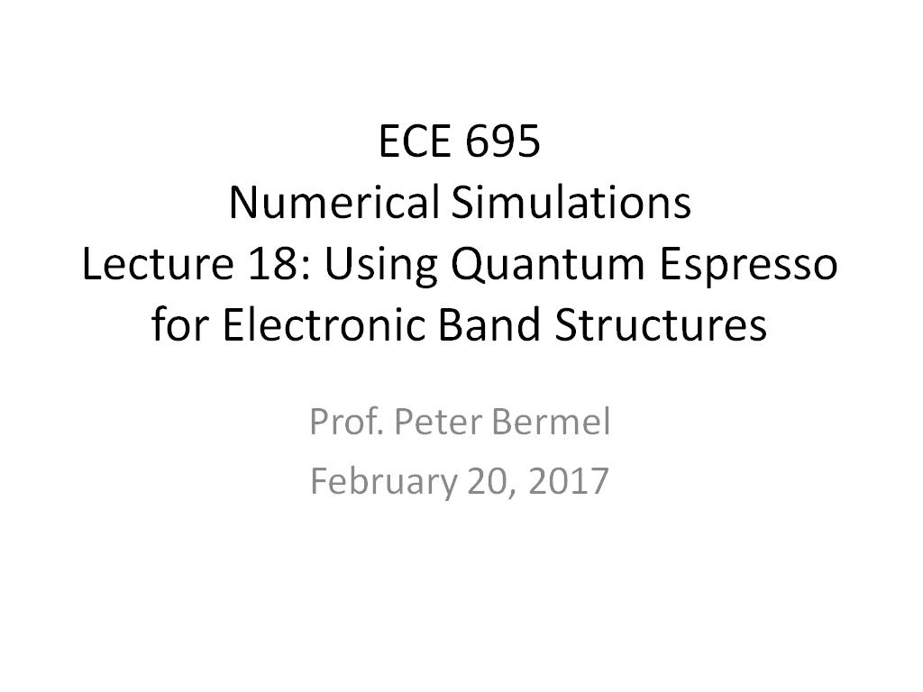 nanoHUB org - Resources: ECE 695NS Lecture 18: Using Quantum