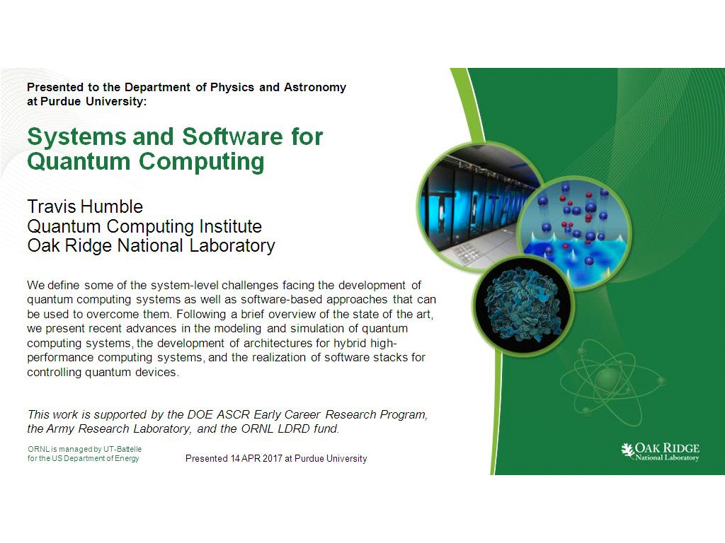 nanoHUB org - Resources: Systems and Software for Quantum