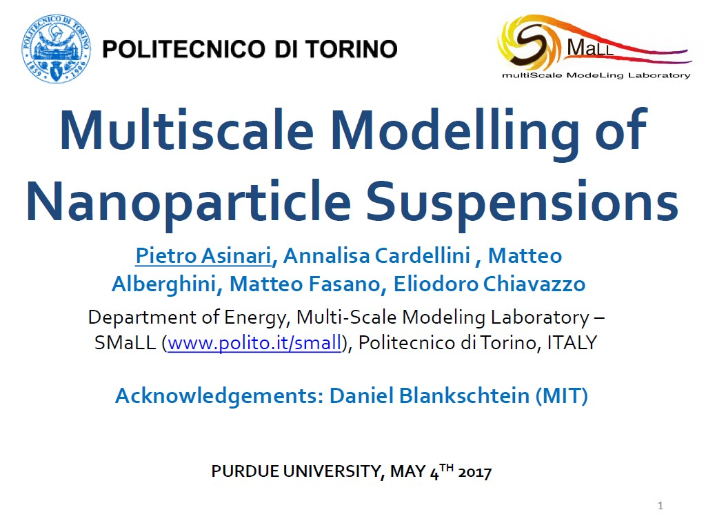 Multiscale Modelling of Nanoparticle Suspensions