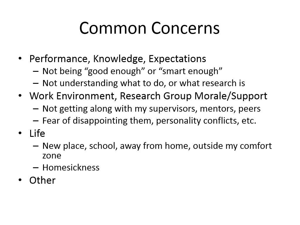 Common Concerns
