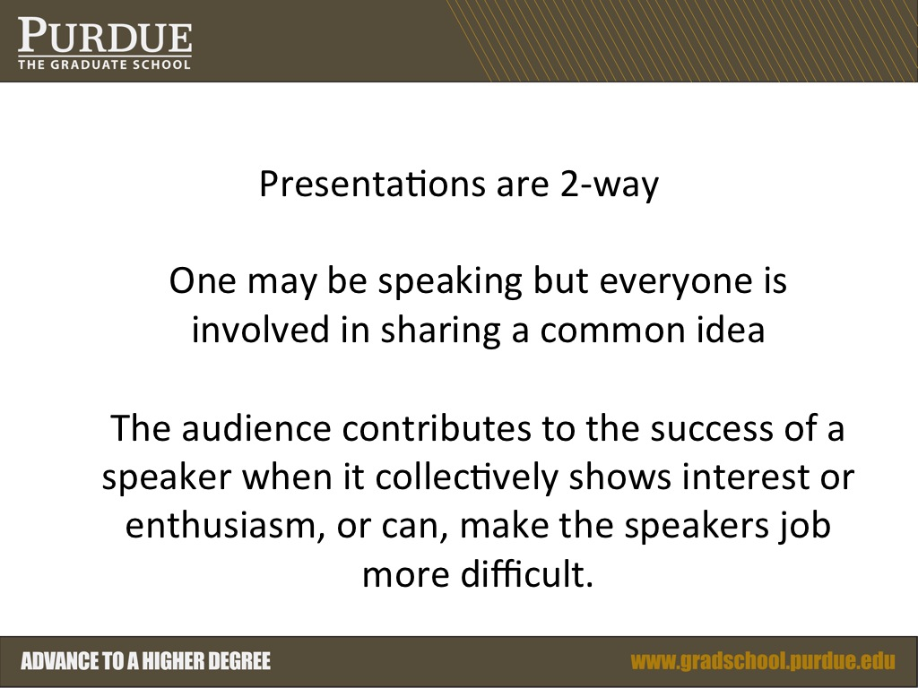 Presentations are 2-way