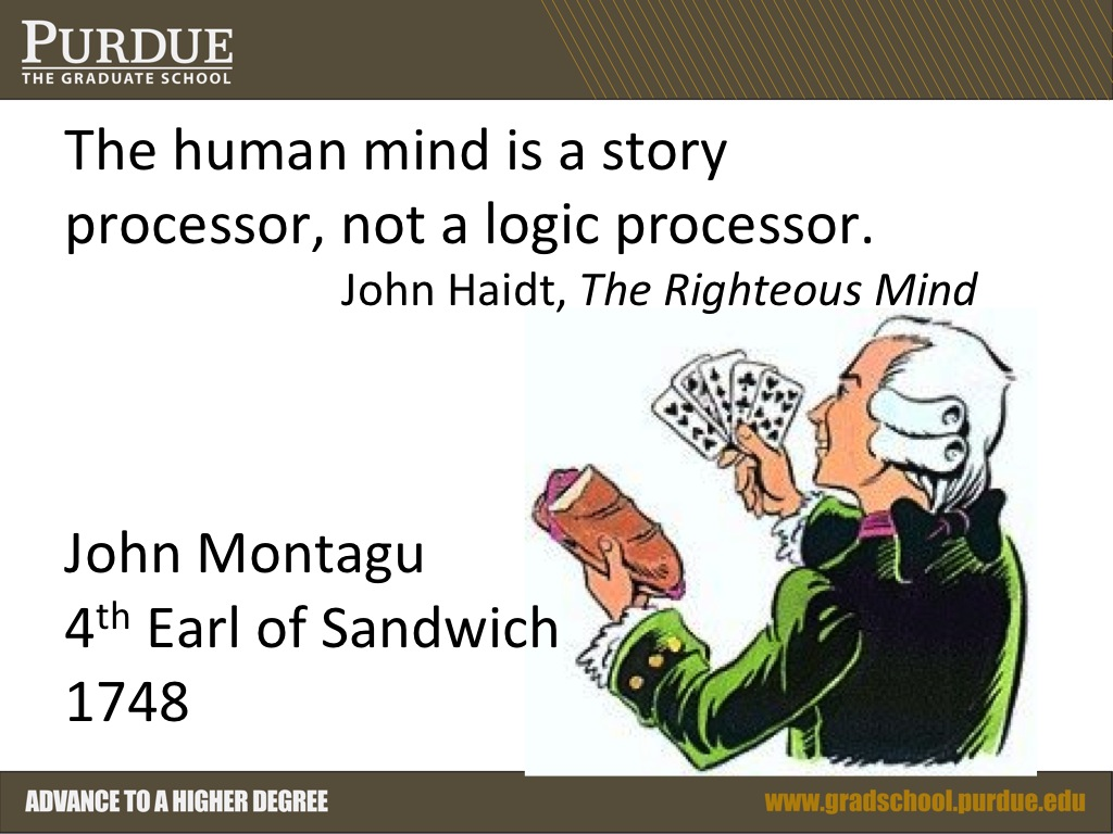 The human mind is a story processor, not a logic processor
