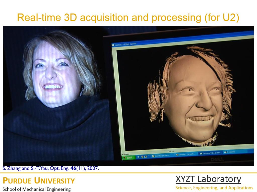 Real-time 3D acquisition and processing (for U2)