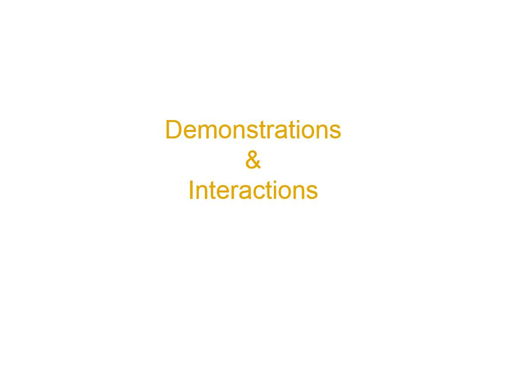 Demonstrations & Interactions