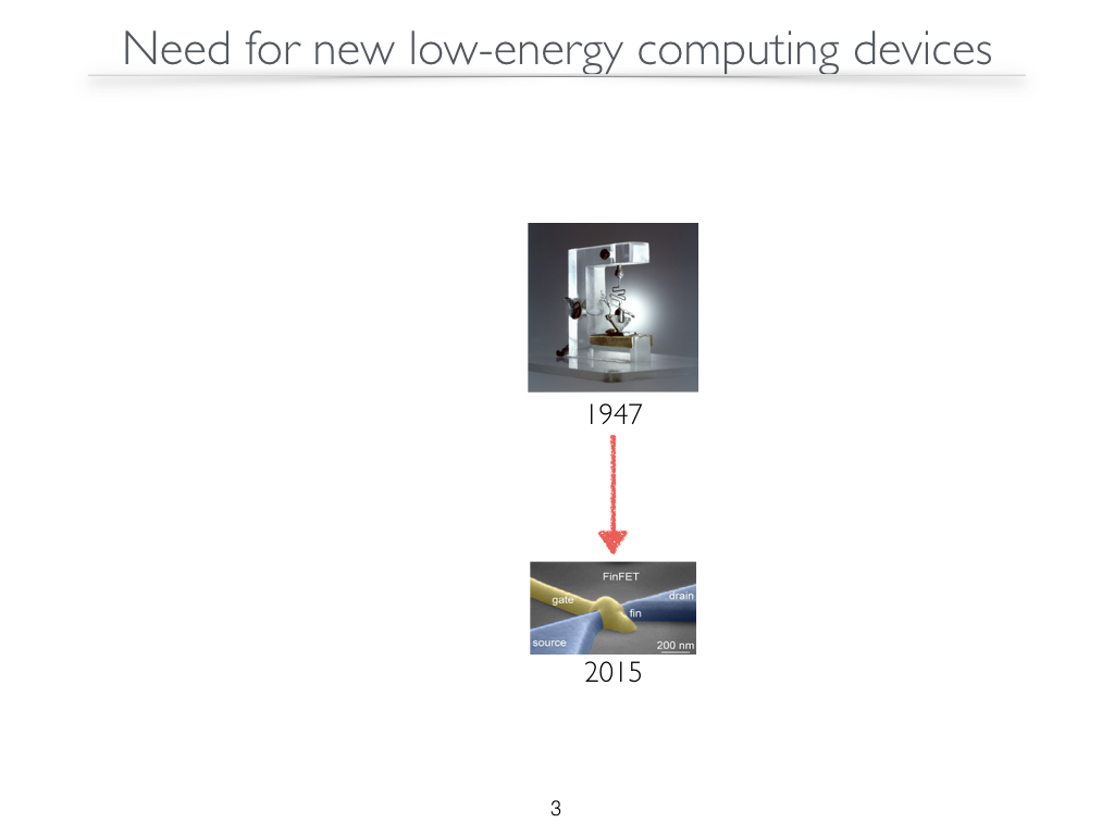 Need for new low-energy computing devices