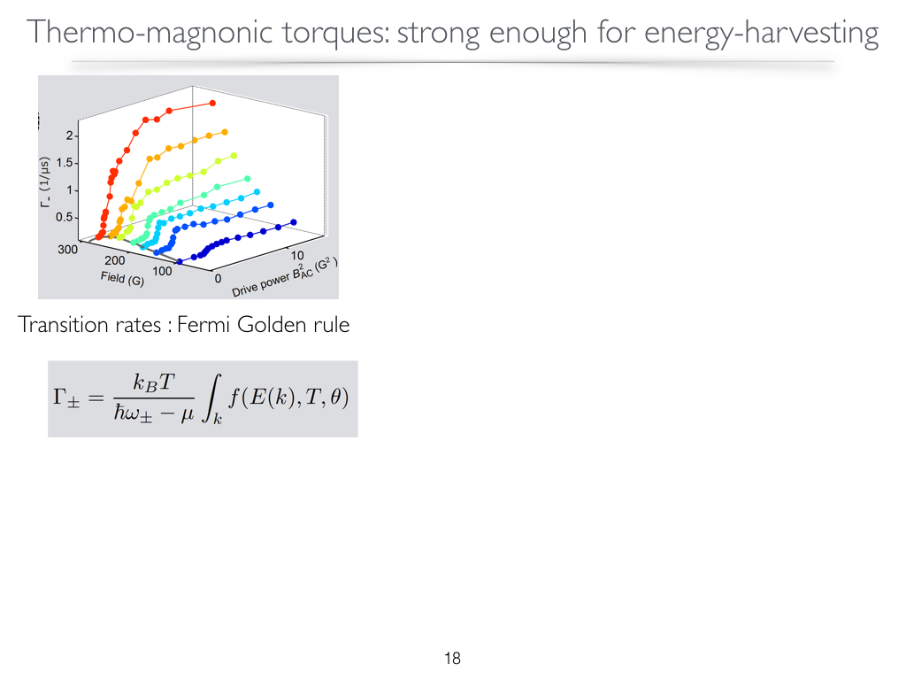 Thermo-magnonic torques:strong enough for energy-harvesting