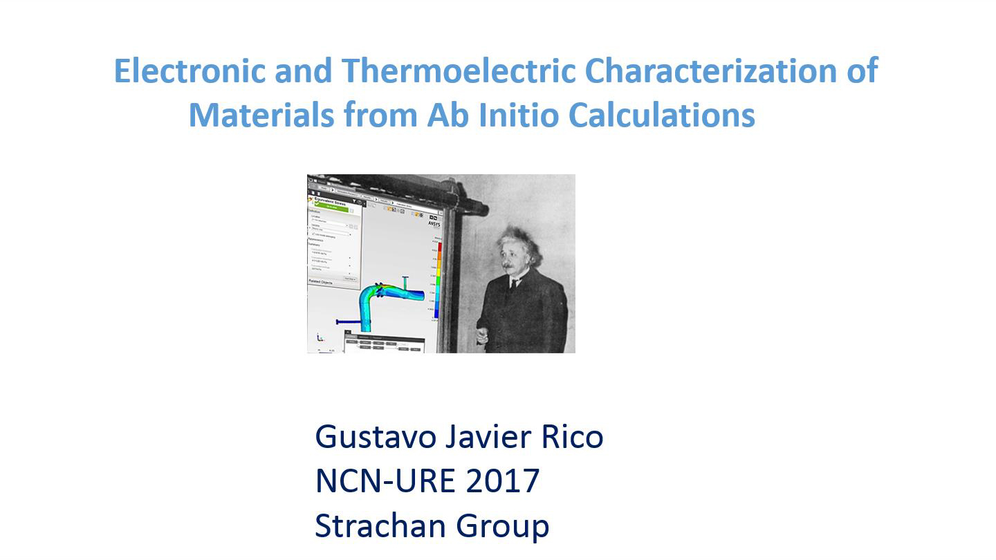 nanoHUB org - Resources: Electronic and Thermoelectric
