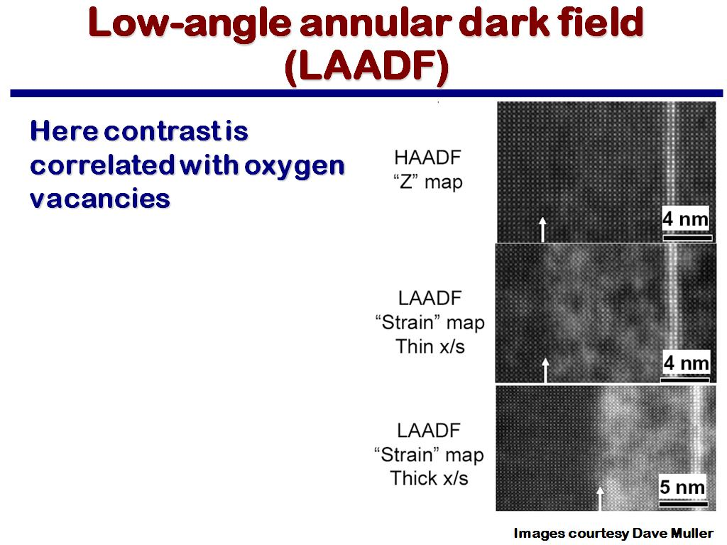 Low-angle annular dark field (LAADF)