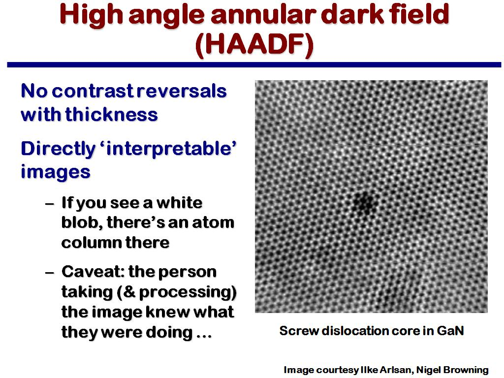 High angle annular dark field (HAADF)