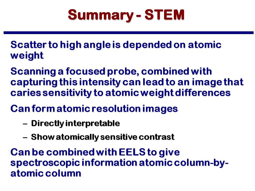 Summary - STEM
