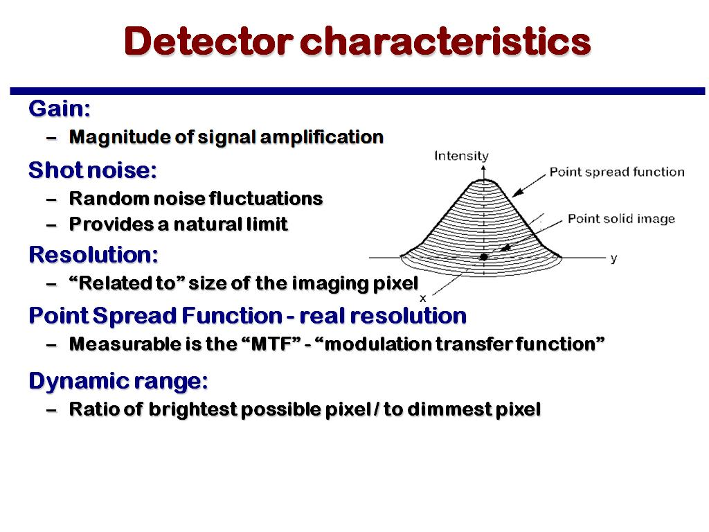 nanoHUB org - Resources: MSE 582 Lecture 5: Electron Detection