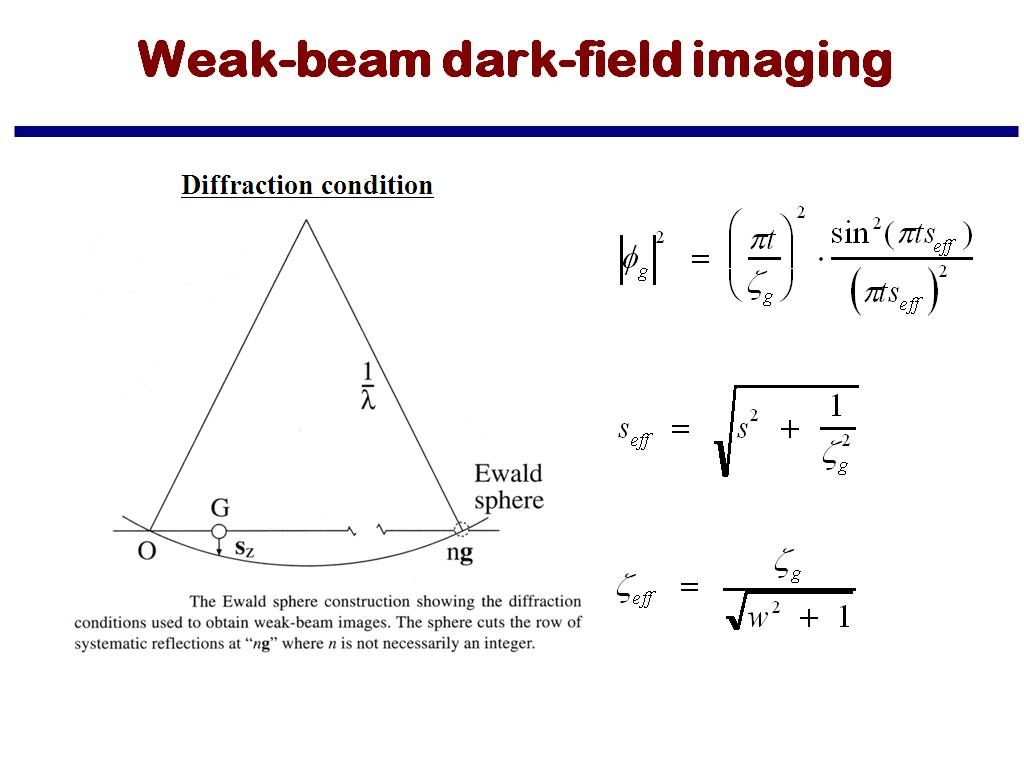 Weak-beam dark-field imaging