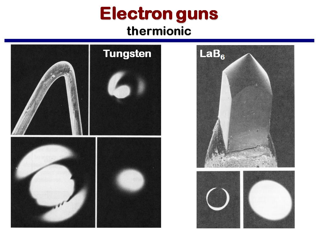 Electron guns thermionic
