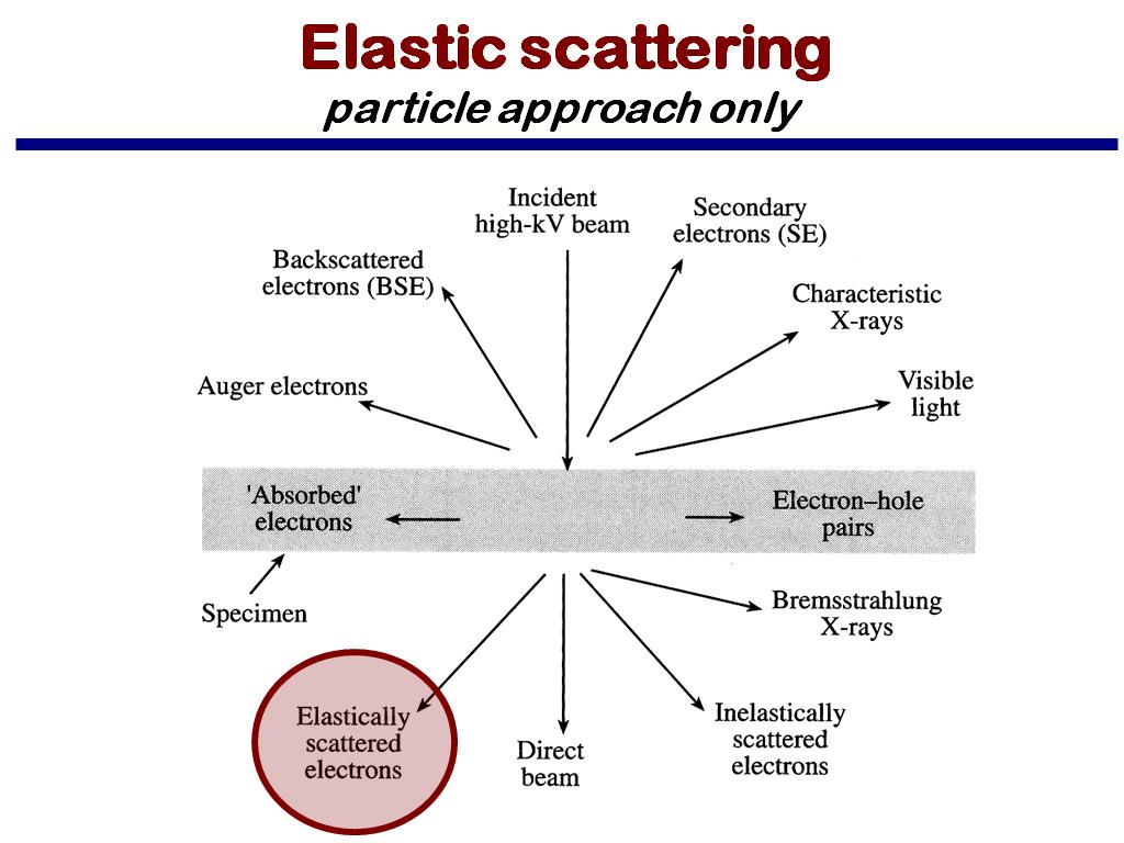 Elastic scattering particle approach only