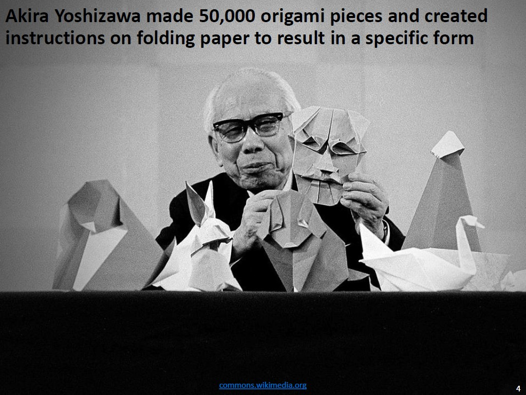 Resources Optimal Design Of Self Folding Origami Video Diagram Quottraditional Japanese Quot Akira Yoshizawa Made 50000 Pieces