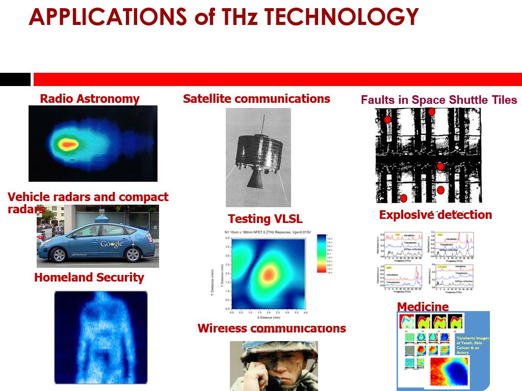 APPLICATIONS of THz TECHNOLOGY