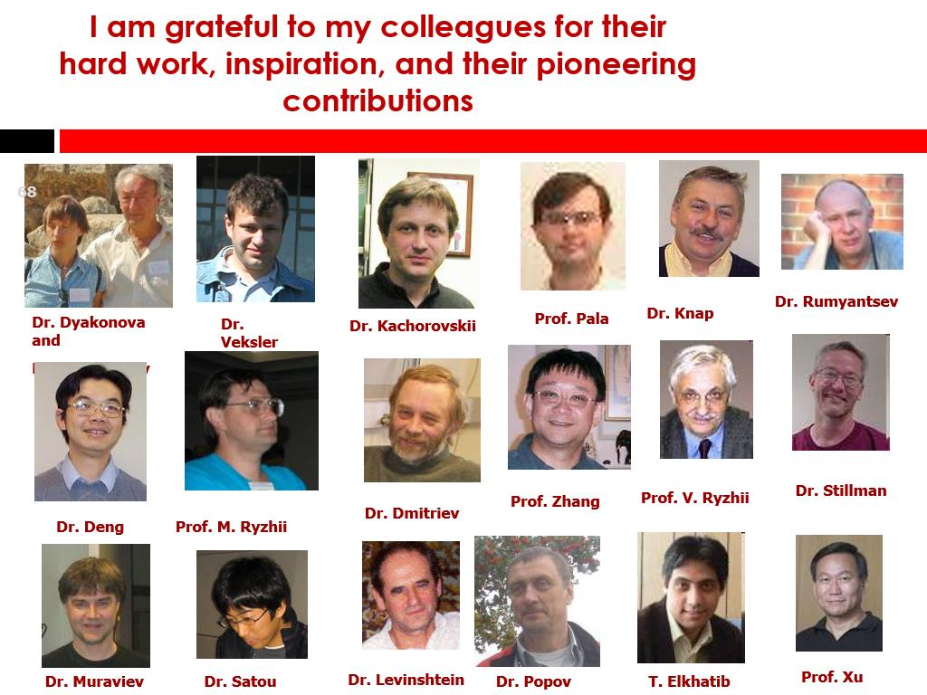 I am grateful to my colleagues for their hard work, inspiration, and their pioneering contributions