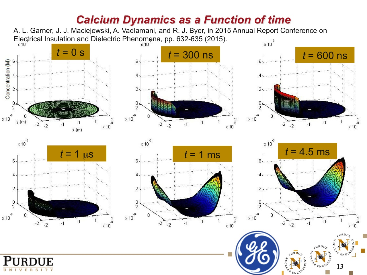 Calcium Dynamics as a Function of time