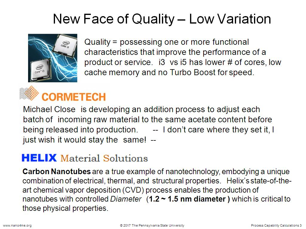 New Face of Quality – Low Variation