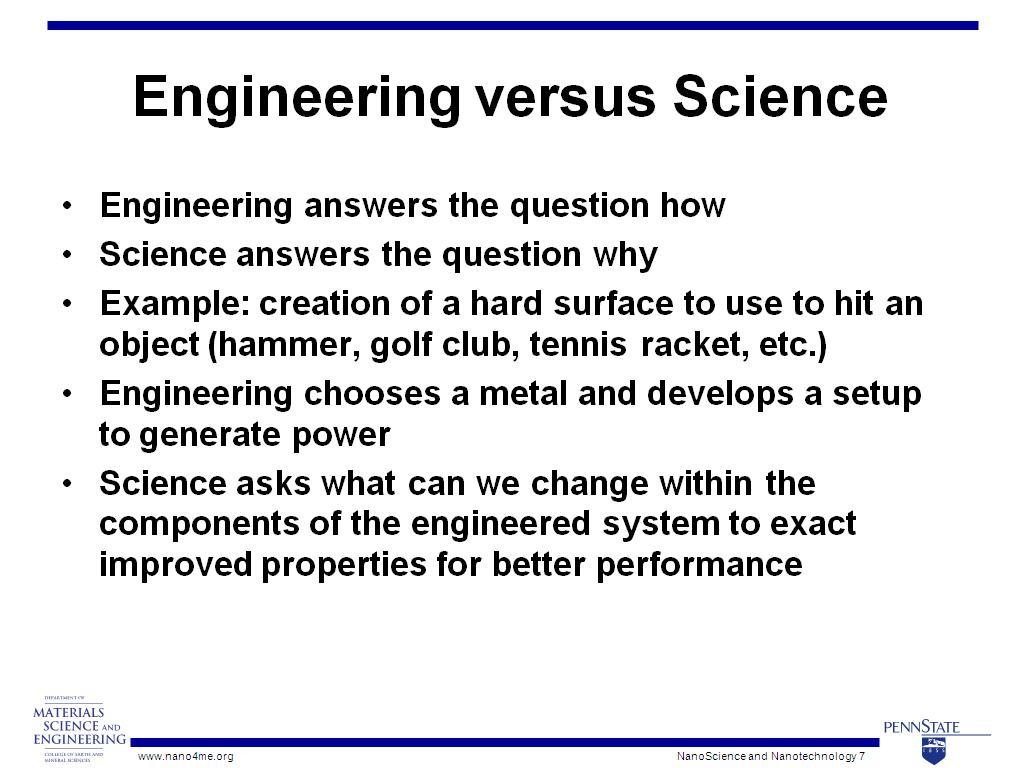 nanoHUB org - Resources: NanoScience and Nanotechnology: How the